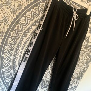PINK by Victoria Secret Side Button track pants